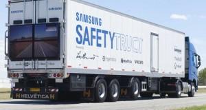 Pierwszy Samsung Safety Truck na drogach