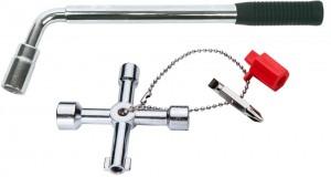 Topex wprowadzana trzy solidne klucze do kół.